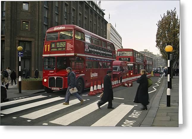 Liverpool Street Station Bus - London Greeting Card