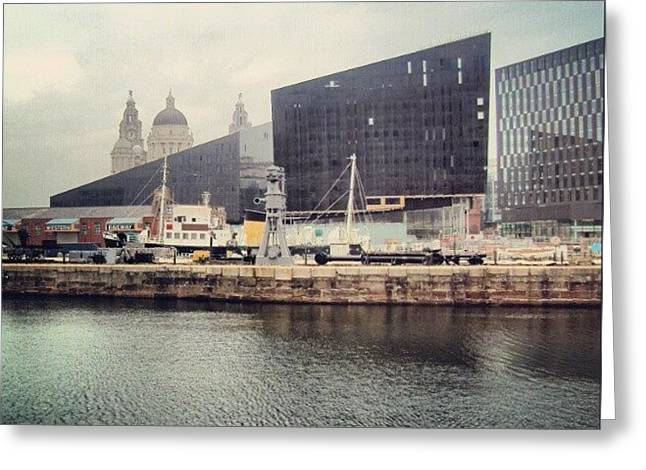 #liverpool #uk #england #architecture Greeting Card
