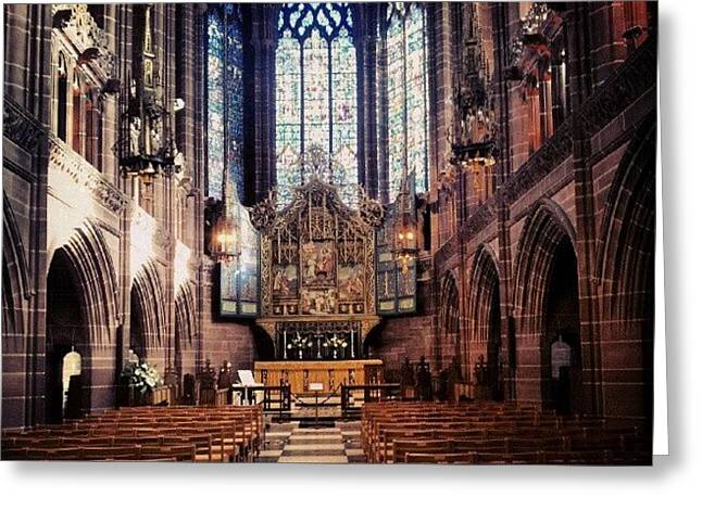 #liverpoolcathedrals #liverpoolchurches Greeting Card by Abdelrahman Alawwad