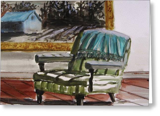 Living Room Moonrise Greeting Card by John Williams