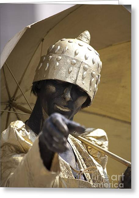 Living Statue Greeting Card by Heiko Koehrer-Wagner