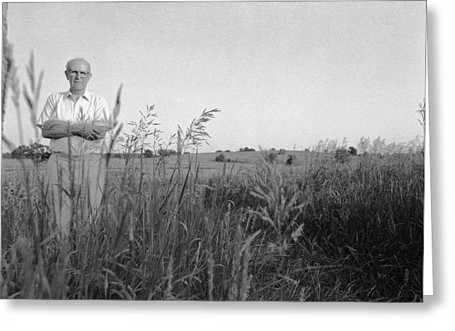 Lloyd Owens On His Farm Greeting Card by Jan W Faul