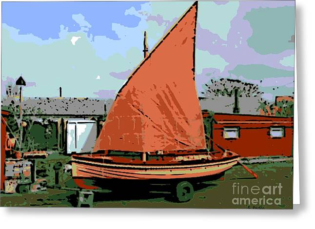 Lobster Boat Greeting Card by George Pedro