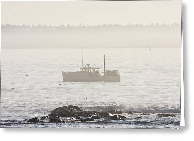 Lobster Boat Mount Desert Island Maine Greeting Card by Keith Webber Jr