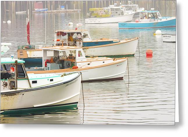 Lobster Boats In Bass Harbor Mount Desert Island Maine Photo  Greeting Card by Keith Webber Jr