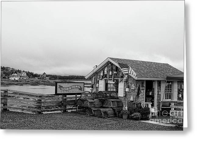 Lobster House Bw Greeting Card