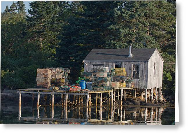 Lobster Shack Prospect Harbor Greeting Card