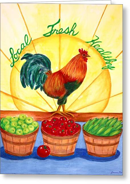 Local Fresh Healthy Greeting Card by Jeanne Kay Juhos