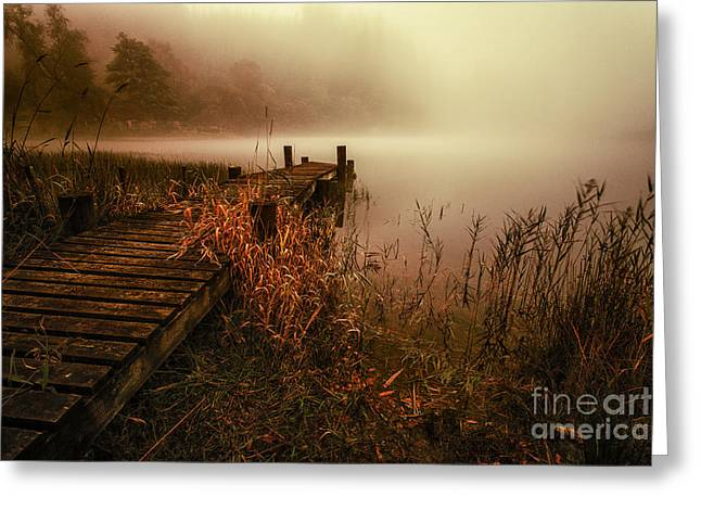Loch Ard Early Morning Mist Greeting Card