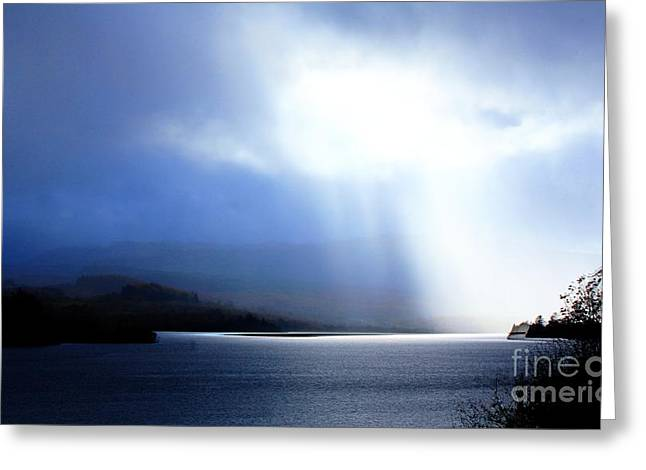 Loch Awe - Hdr Greeting Card by David Grant