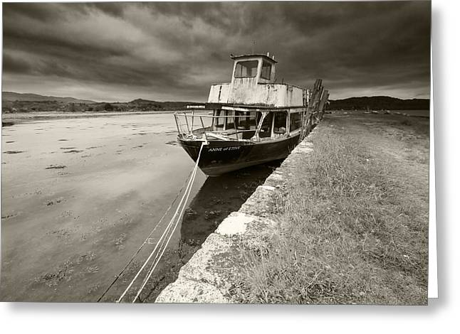 Loch Etive Jetty Old Boat Greeting Card