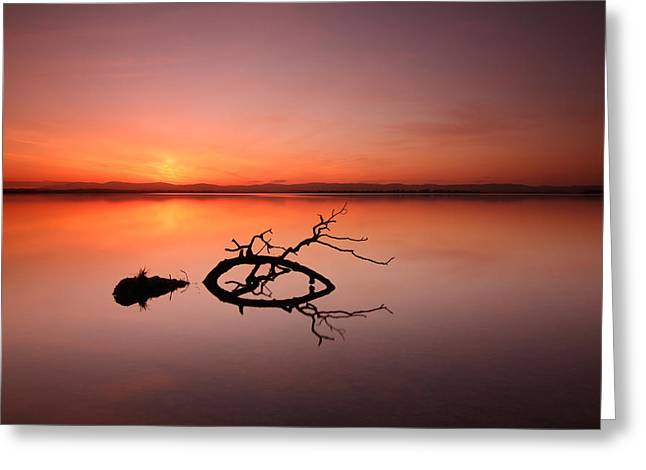 Loch Leven Sunset Greeting Card