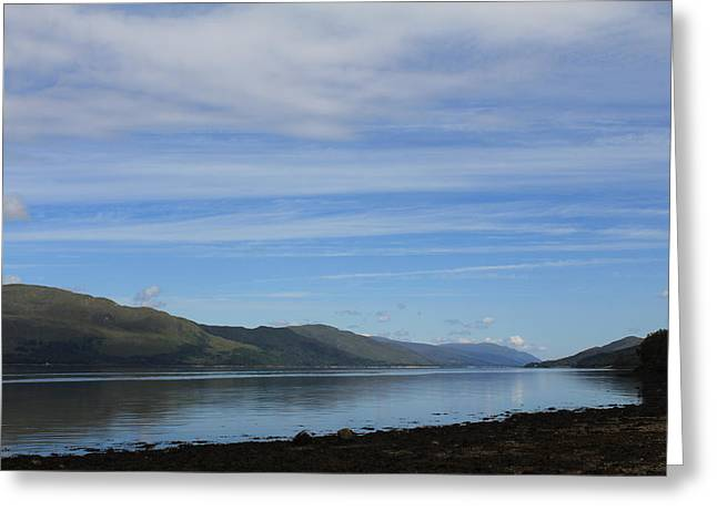 Greeting Card featuring the photograph Loch Linnhe by David Grant