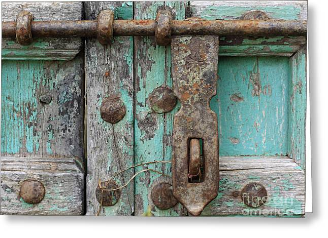 Greeting Card featuring the photograph Lock The Door by Denise Pohl