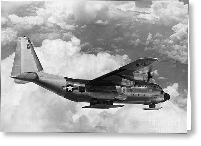 Lockheed C-130 Hercules Greeting Card by Science Source