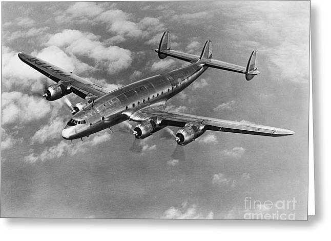 Lockheed Constellation Greeting Card by Photo Researchers