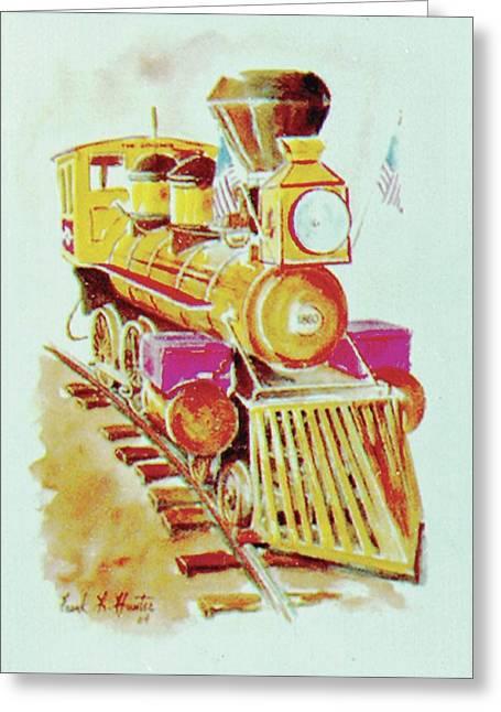 Locomotive Greeting Card by Frank Hunter