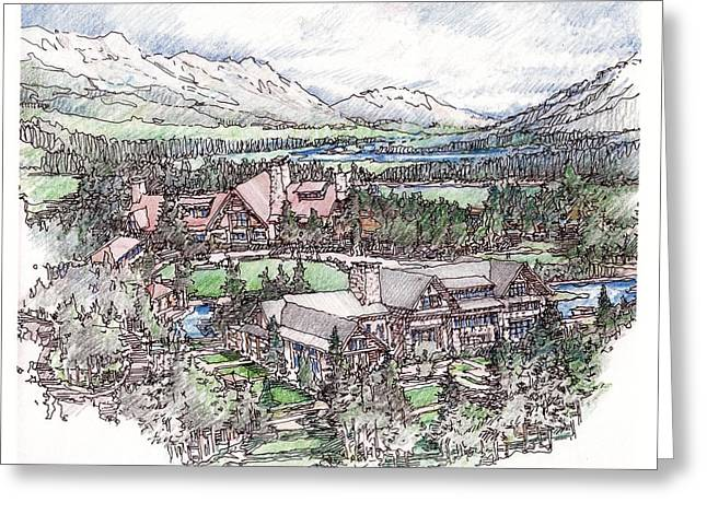 Lodge Greeting Card by Andrew Drozdowicz