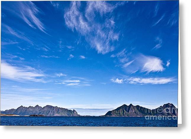 Lofoten Islands Skies Greeting Card by Heiko Koehrer-Wagner