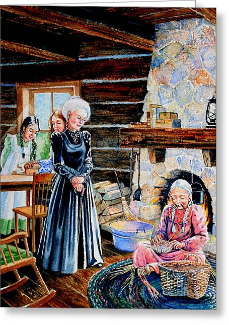 Log Cabin Activity Greeting Card by Hanne Lore Koehler
