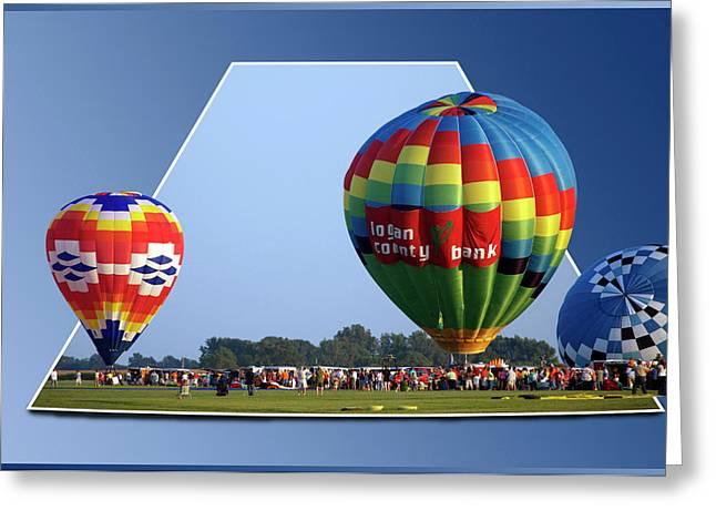 Logan County Bank Balloon 05 Greeting Card by Thomas Woolworth