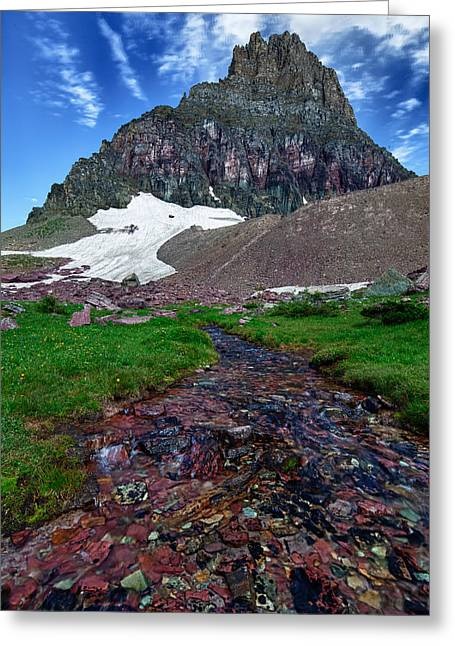 Logan Pass View Greeting Card