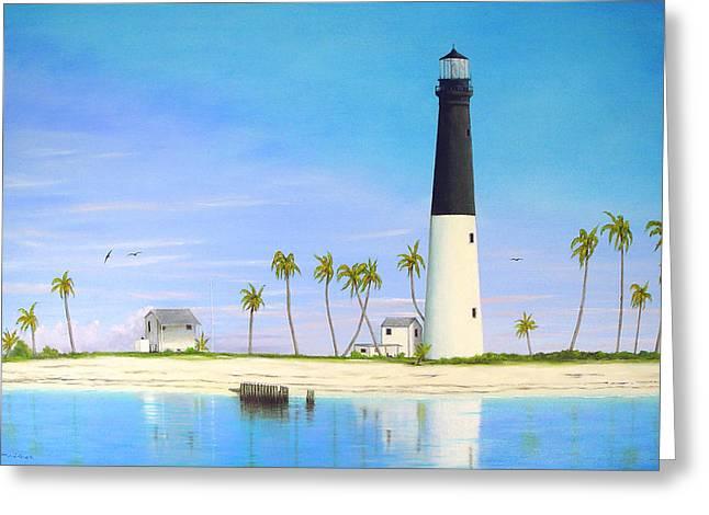 Loggerhead Key Lighthouse Greeting Card by Luis Nunez