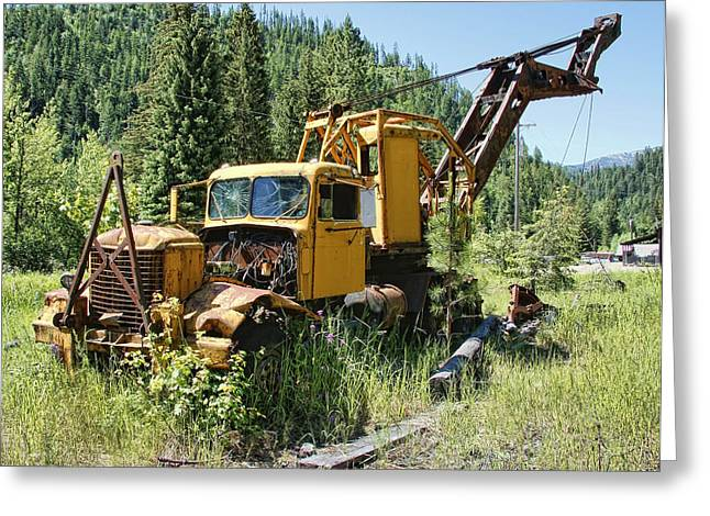 Logging Truck 2 - Burke Idaho Ghost Town Greeting Card by Daniel Hagerman