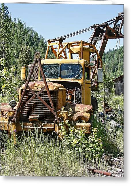 Logging Truck - Burke Idaho Ghost Town Greeting Card by Daniel Hagerman