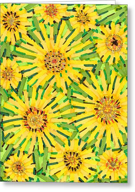 Loire Sunflowers Two Greeting Card by Jason Messinger