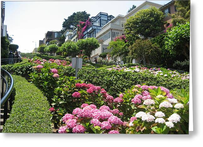 Greeting Card featuring the photograph Lombard Street by Dany Lison