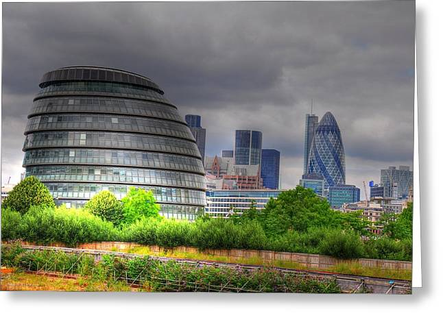 London Art Greeting Card by Barry R Jones Jr