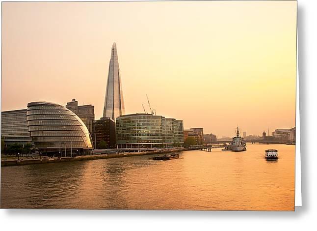 London At Dusk Greeting Card by Svetlana Sewell