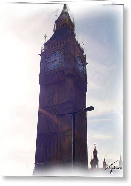 London Big Ben Greeting Card by Thomas Frias