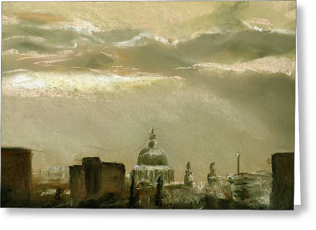 London City Dawn 2 Greeting Card by Paul Mitchell