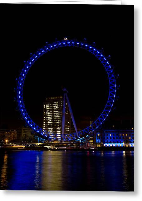London Eye And River Thames View Greeting Card