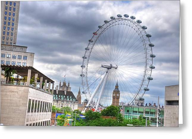 London Eye Greeting Card by Barry R Jones Jr