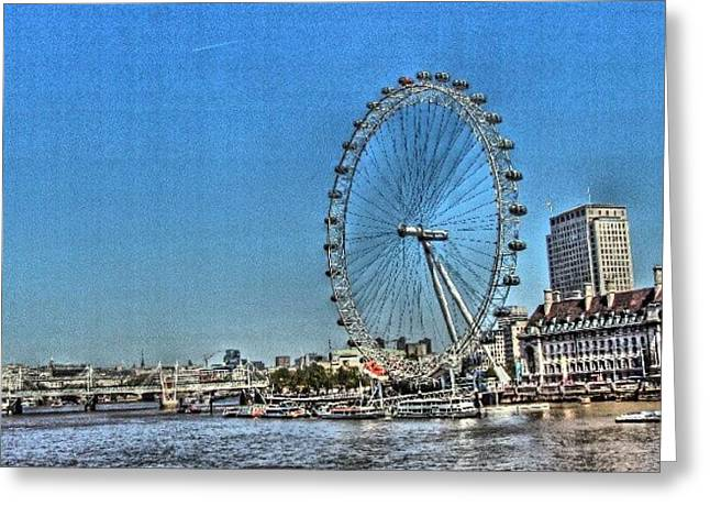 London Eye, #london #londoneye Greeting Card