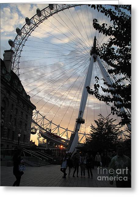London Eye Greeting Card by Louise Peardon