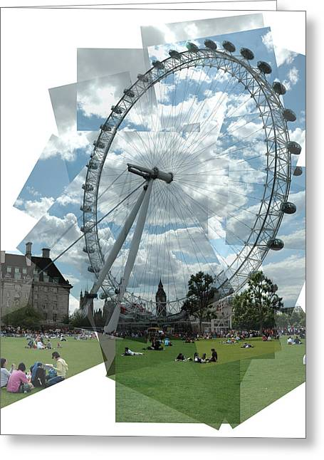 London Eye Panograph Greeting Card by George Crawford