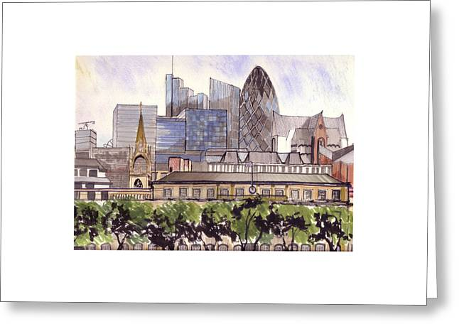 London  Greeting Card by Dianne Green