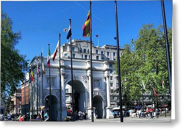 #london #hyepark #sunny #uk #england Greeting Card