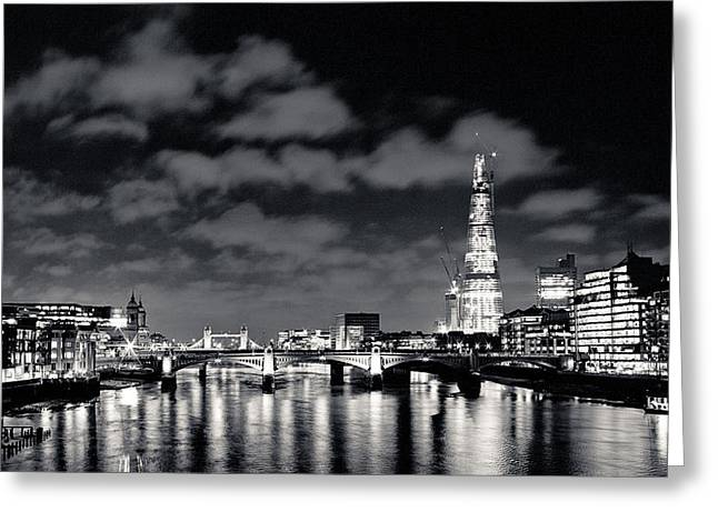 London Lights At Night Greeting Card by Lenny Carter
