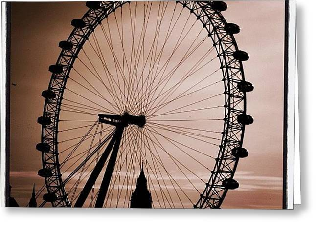 #london #londoneye #bigben Greeting Card