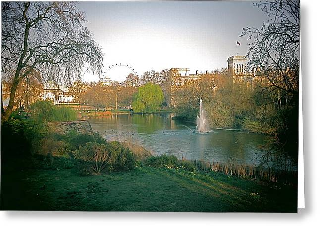 London Park Greeting Card by Blake Yeager