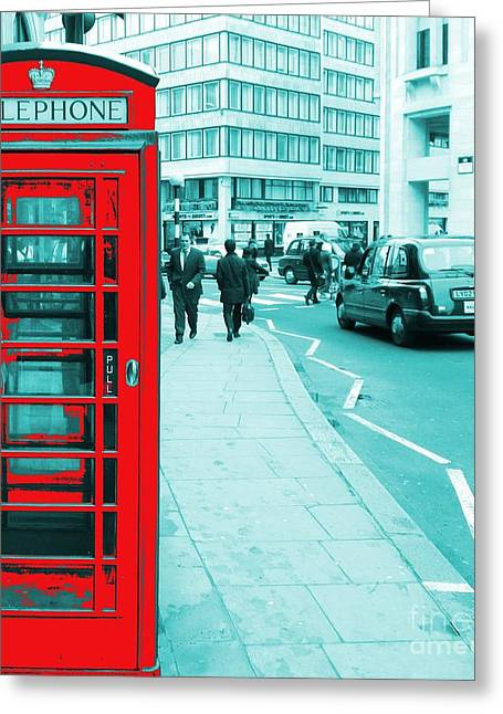 London Phone Booth Greeting Card