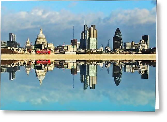 London Skyline Greeting Card by Sharon Lisa Clarke