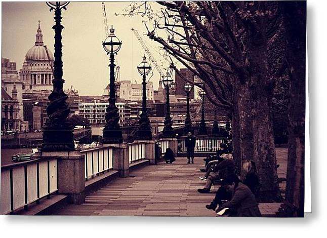 #london #southbank #stpaul Greeting Card