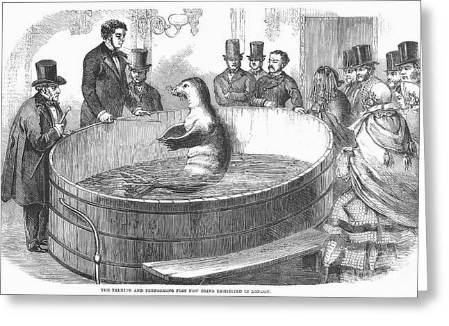 London: Talking Fish, 1859 Greeting Card by Granger