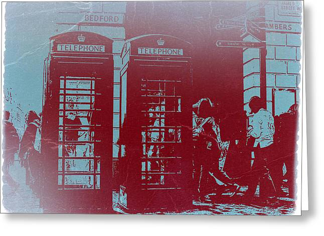 London Telephone Booth Greeting Card
